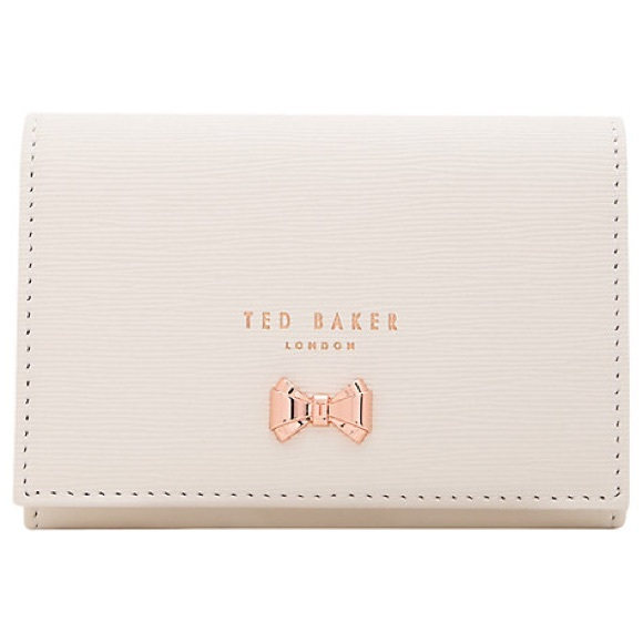 f739316621344 NWT ted baker myah curved bow mini wallet